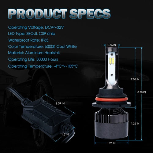 Xprite Knight Star All-IN-ONE CSP LED Headlight Conversion Kit - 9004 HB1