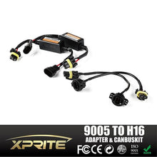 "Xprite LED Warning Error Free Anti Flicker Resistor Flicking Canceler Canbus & 9005 To 5202 (H16) Adapter Harness Wire Kit For Jeep Wrangler 4"" LED Fog Lights"