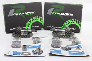 Revolution Gear & Axle - JK Non Rubicon (D44/D30) 4.56 gear package front & rear with master overhaul kits (Front case required for factory 3.21 ratio only)