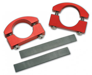 Roll Bar Clamps Small 1.5-2 Inch Diameter Red Pair Power Tank