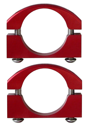 Roll Bar Clamps Large 2.25-2.5 Inch Diameter Red Pair Power Tank