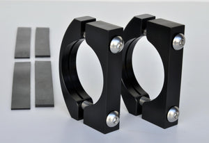 Roll Bar Clamps Large 2.25-2.5 Inch Diameter Black Pair Power Tank