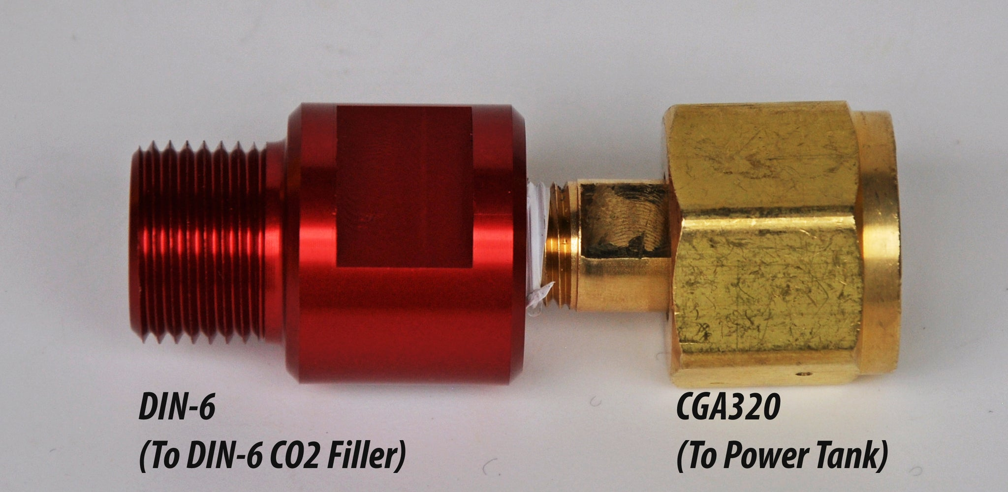 CO2 Tank Valve Adapter For European/Asian CO2 Valves Power Tank