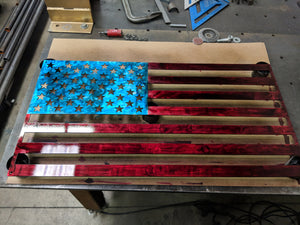 22″ American Flag Metal Cutout