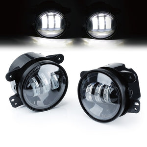 "Xprite 7"" 75W CREE LED Headlight & 60W Fog Lights Combo For Jeep Wrangler 2007 - 2018"