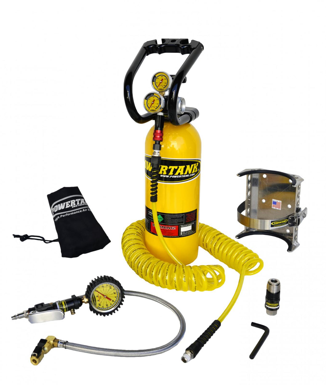 CO2 Tank 5 LB Power Tank Package B System 250 PSI Team Yellow Power Tank