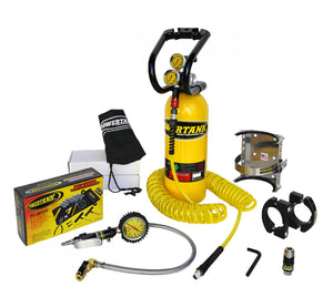 CO2 Tank 5 LB Power Tank Package C System 250 PSI Team Yellow Power Tank