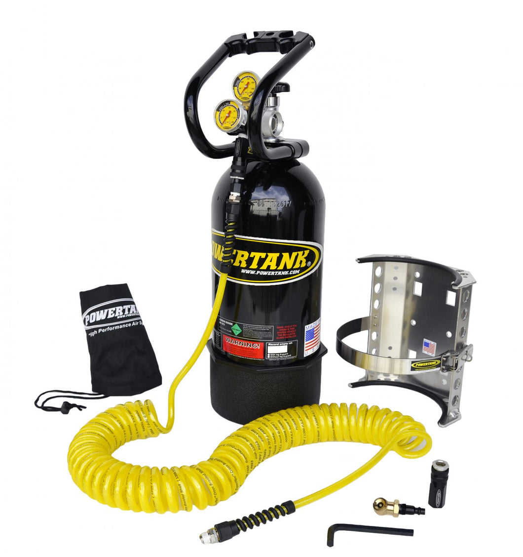 CO2 Tank 10 LB Package A System 400 PSI Gloss Black Power Tank