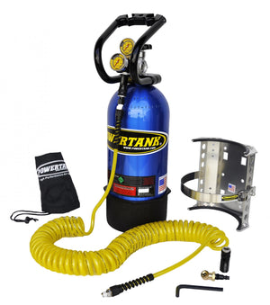 CO2 Tank 10 LB Package A System 250 PSI Candy Blue Power Tank