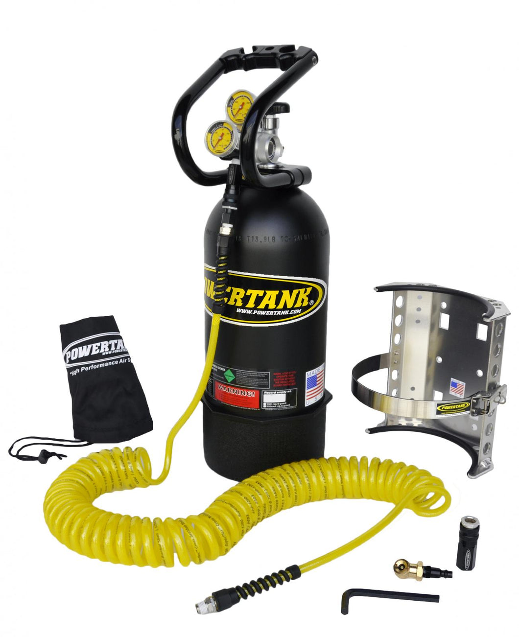 CO2 Tank 10 LB Package A System 400 PSI Matte Black Power Tank