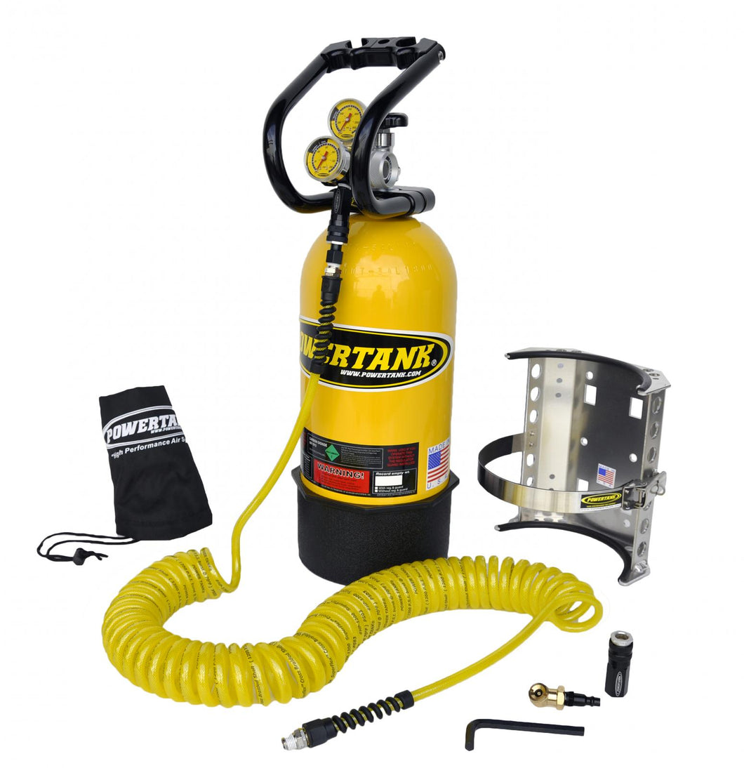 CO2 Tank 10 LB Package A System 250 PSI Team Yellow Power Tank