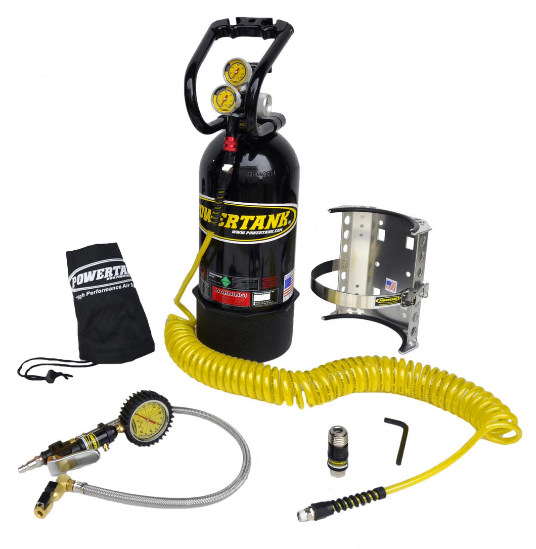 CO2 Tank 10 LB Package B System W/Power Flow II 400 PSI Gloss Black Power Tank