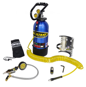 CO2 Tank 10 LB Package B System W/Power Flow II 250 PSI Candy Blue Power Tank