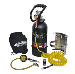 CO2 Tank 10 LB Package B System W/Power Flow II 250 PSI Matte Black Power Tank