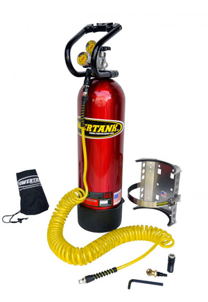 CO2 Tank 15 LB Power Tank Package A 250 PSI Candy Red Power Tank