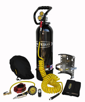 CO2 Tank 15 LB Power Tank Package C 400 PSI Gloss Black Power Tank