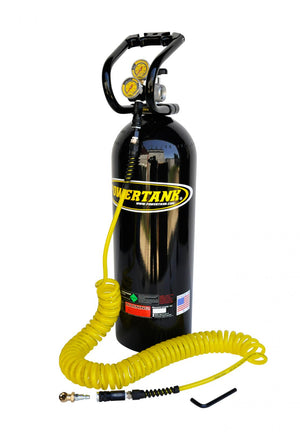 CO2 Tank 20 LB Basic System 250 PSI Gloss Black Power Tank