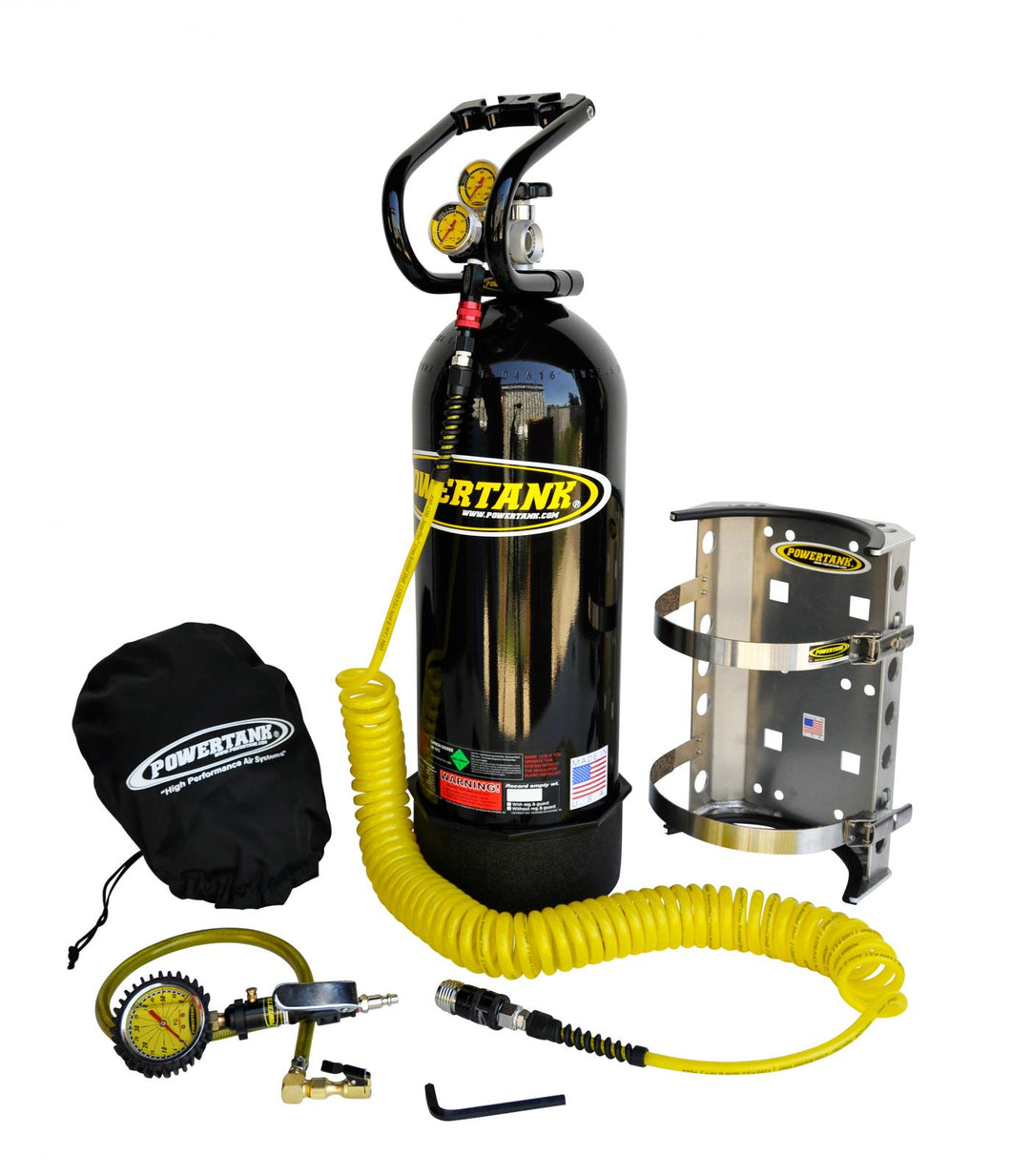 CO2 Tank 20 LB Package B System 400 PSI Gloss Black Power Tank