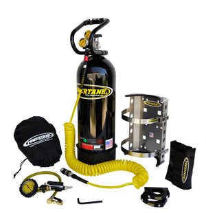 CO2 Tank 20 LB Package C System Gloss 250 PSI Black Power Tank