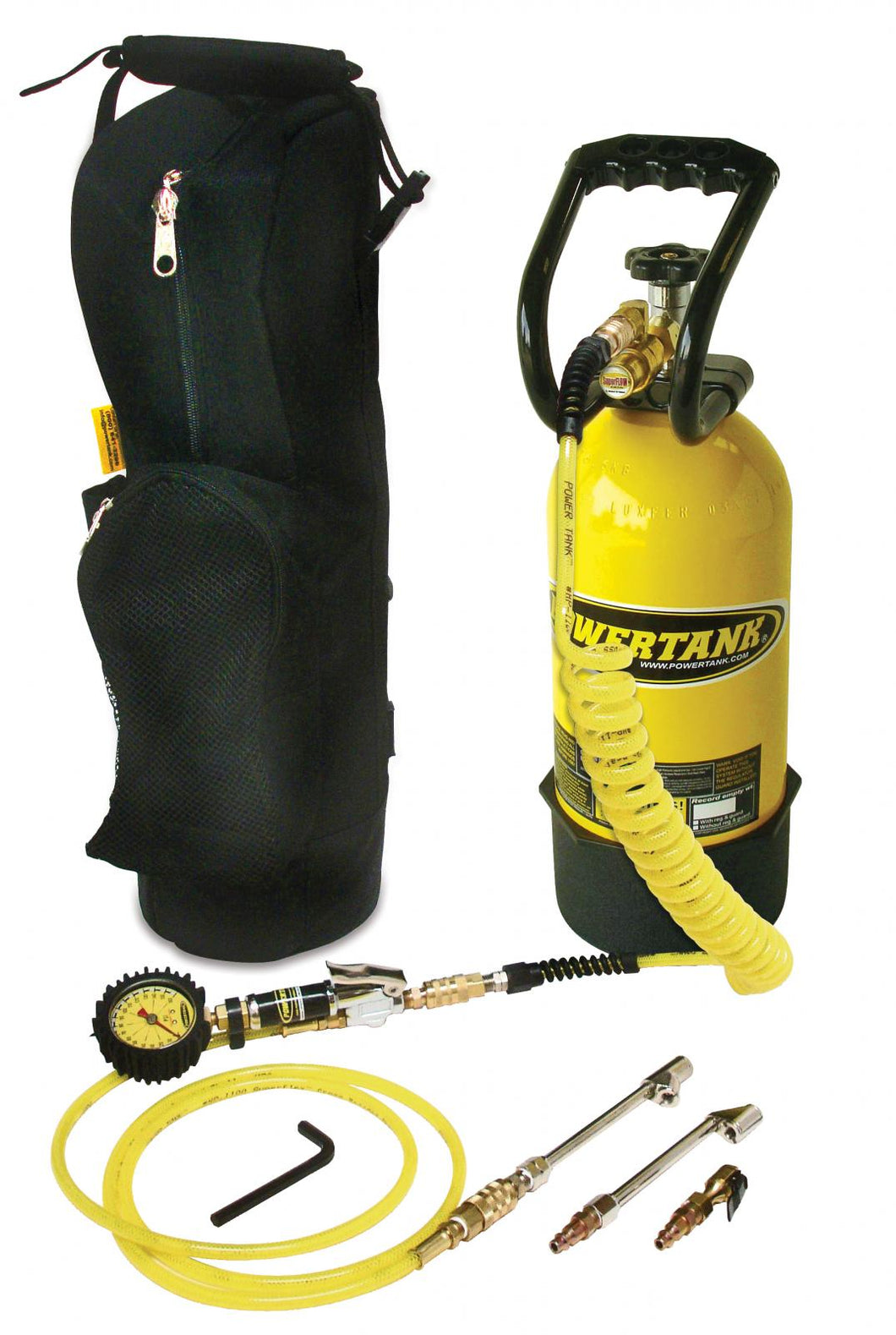 CO2 Tank 10 LB RV Gold Package Team Yellow Power Tank