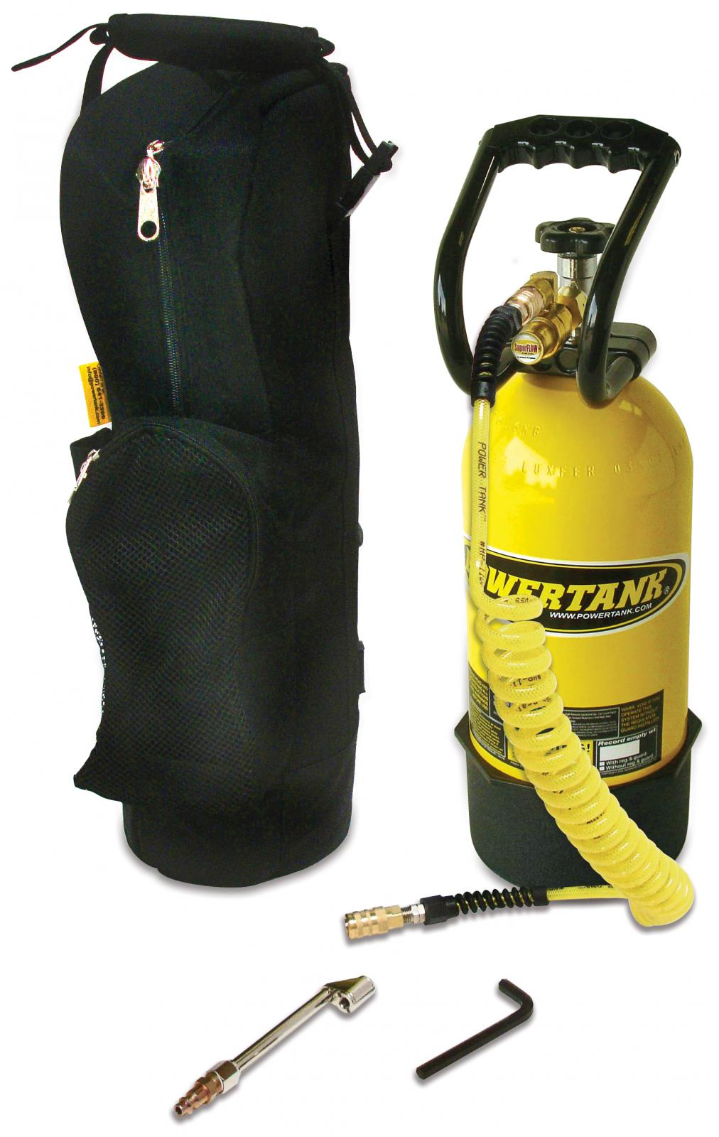 CO2 Tank 10 LB RV Silver Package Team Yellow Power Tank