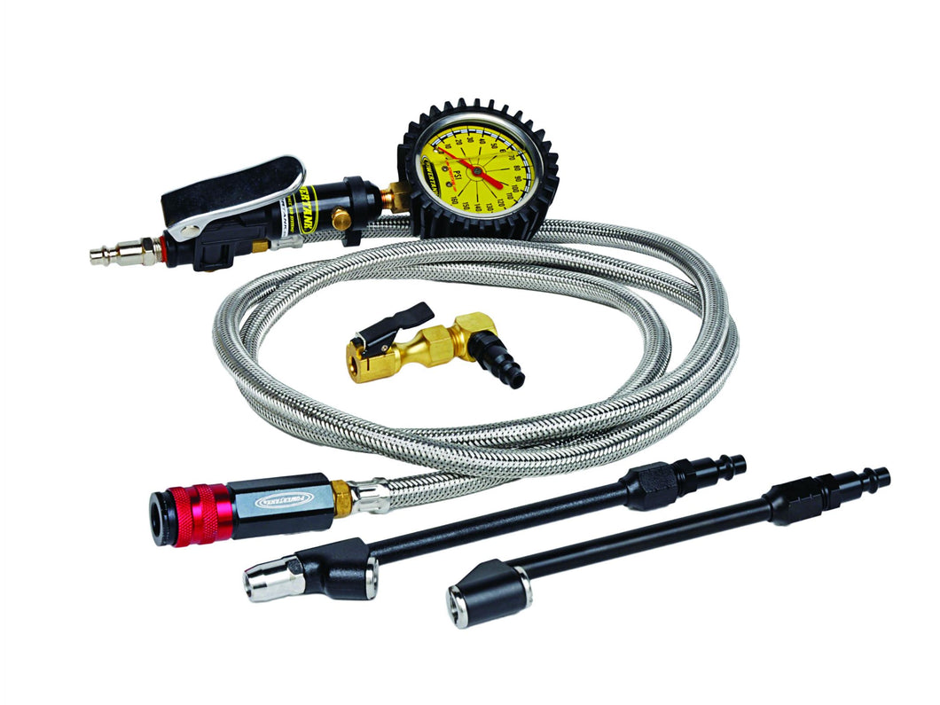 Tire Inflator Kit 160 PSI 6 Foot Hose Whip Clip On Chucks Power Tank