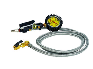 Tire Inflator Heavy Duty 160 PSI 6 Foot Braided Hose Whip Click On Chuck Power Tank