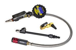 Digital Tire Inflator 150 PSI 2 Foot Braided Hose Clip On and Dual Head Chuck Power Tank