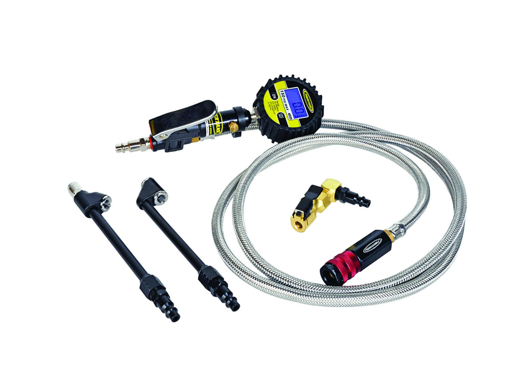 Digital Tire Inflator 150 PSI 6 Foot Braided Hose Clip On and 2 Dual Head Chucks Power Tank