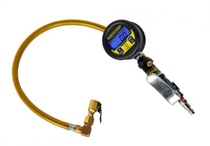 Digital Tire Inflator Racer Series 100 PSI 2 Foot Braided Hose Clip On Chuck Power Tank