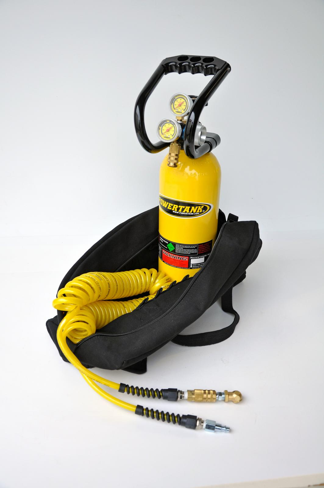 CO2 Tank 5 LB Track Pack Package A System 250 PSI Team Yellow Power Tank