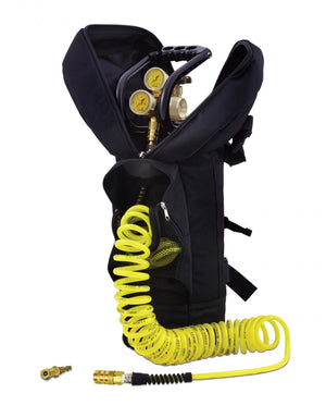 CO2 Tank 10 LB Track Pack Package A System 400 PSI Team Yellow Power Tank