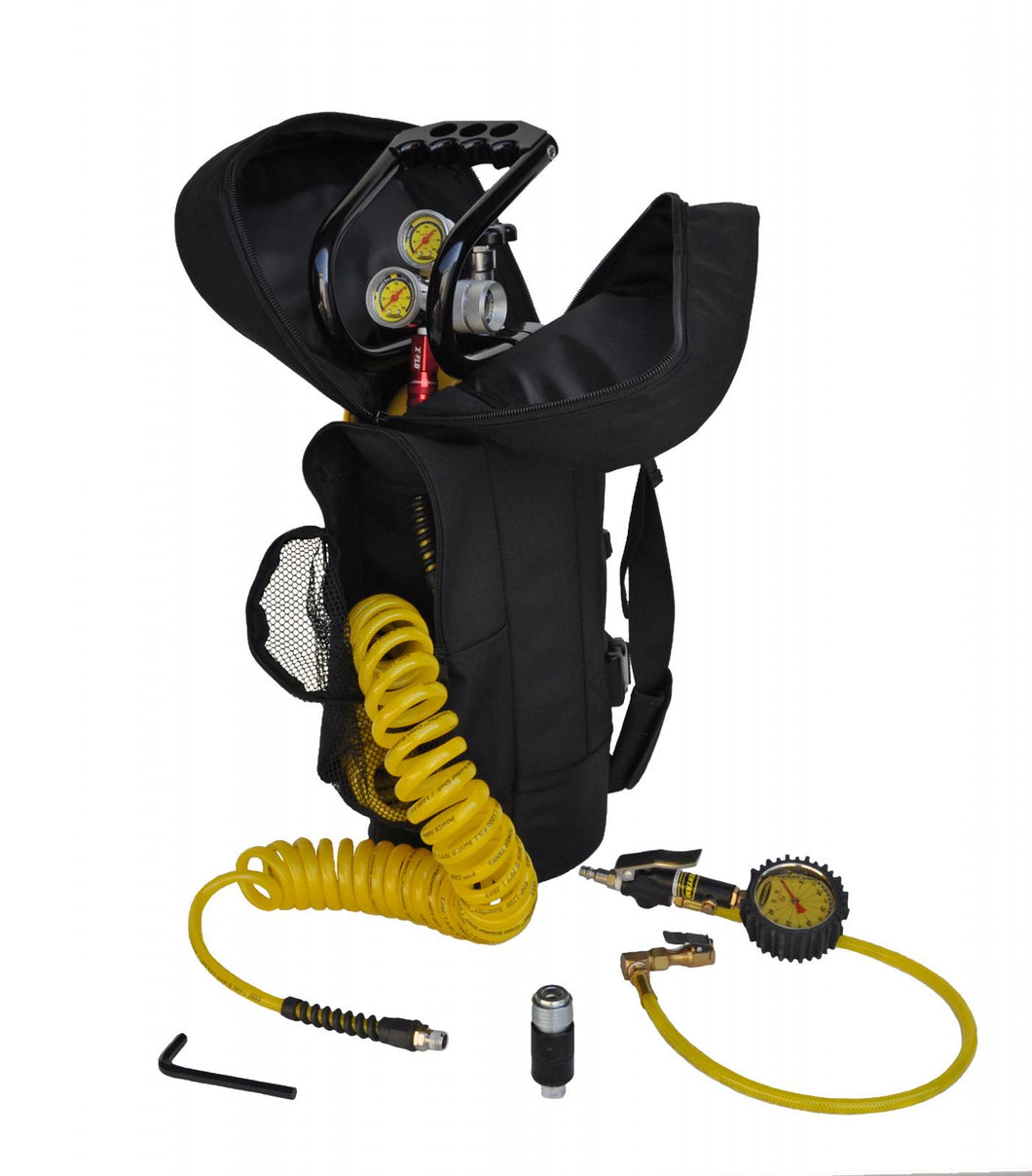CO2 Tank 10 LB Track Pack Package B System 400 PSI Team Yellow Power Tank