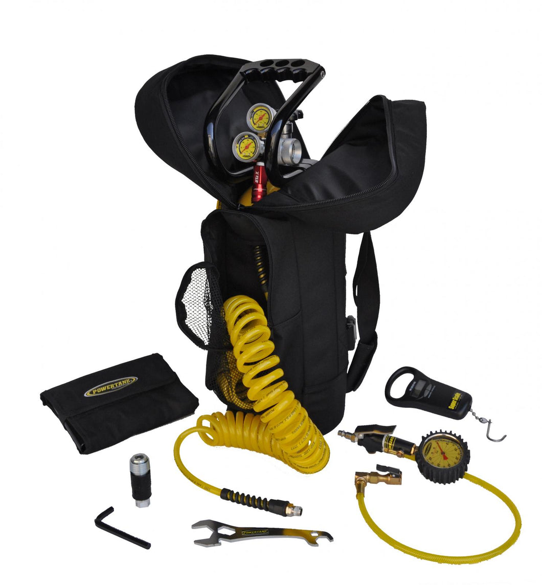 CO2 Tank 10 LB Track Pack Package C System 400 PSI Team Yellow Power Tank