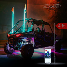 Xprite Remote Control Flag Pole Whip Light with RGB Colors