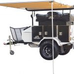 Combo Deal: Tuff Stuff® Xtreme Base Camp Expedition Trailer, Delta Roof Top Tent and 6.5′ Awning