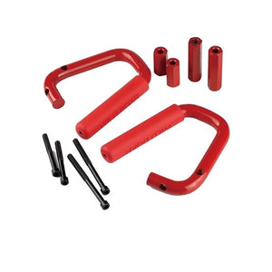 Xprite Red Front Only Grab Handles for 2007 - 2018 Jeep Wrangler