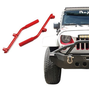 Xprite Red Rear Only Grab Handles for 2007 - 2018 Jeep Wrangler