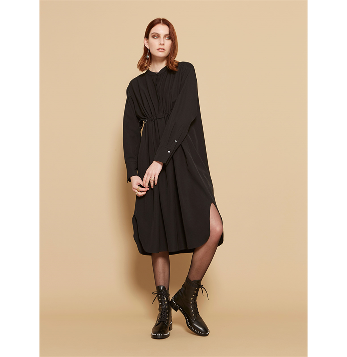 Sills W20 Bree Shirtdress Black