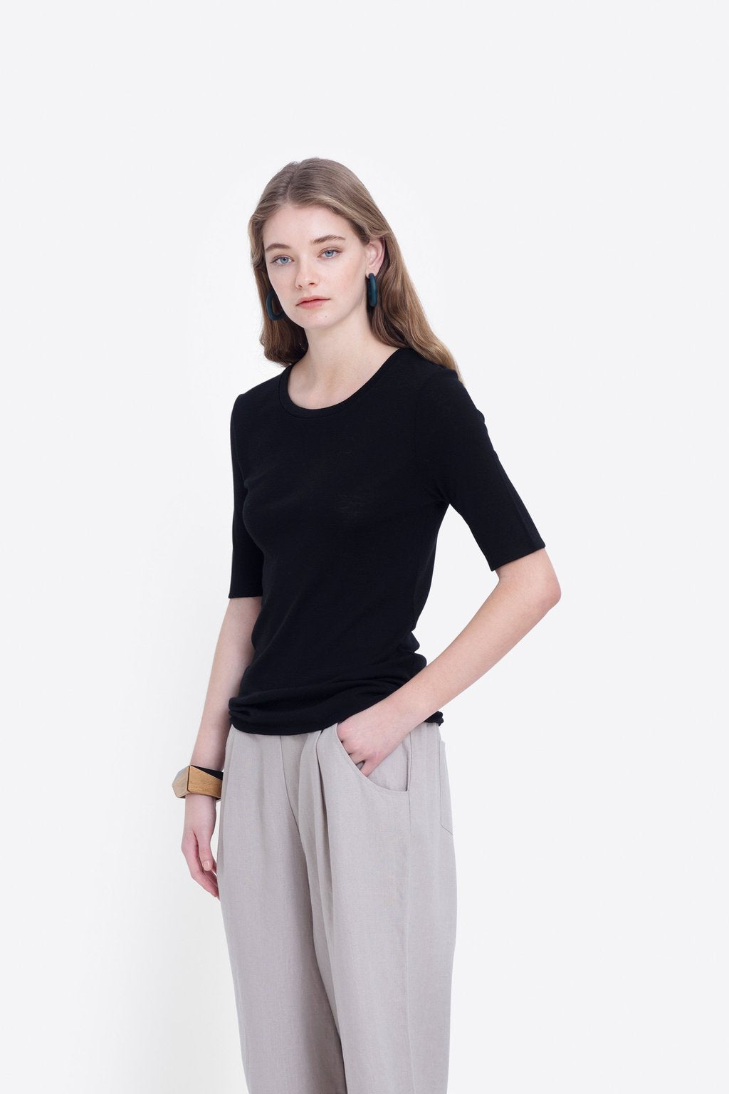 Elk W20 Marika Knit Top Black