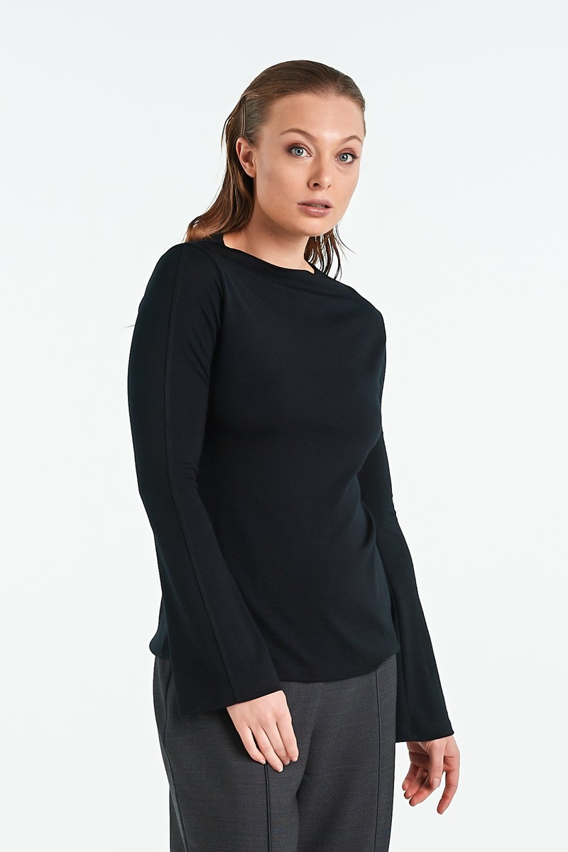 Nyne W20 Mosaic Top Black Merino