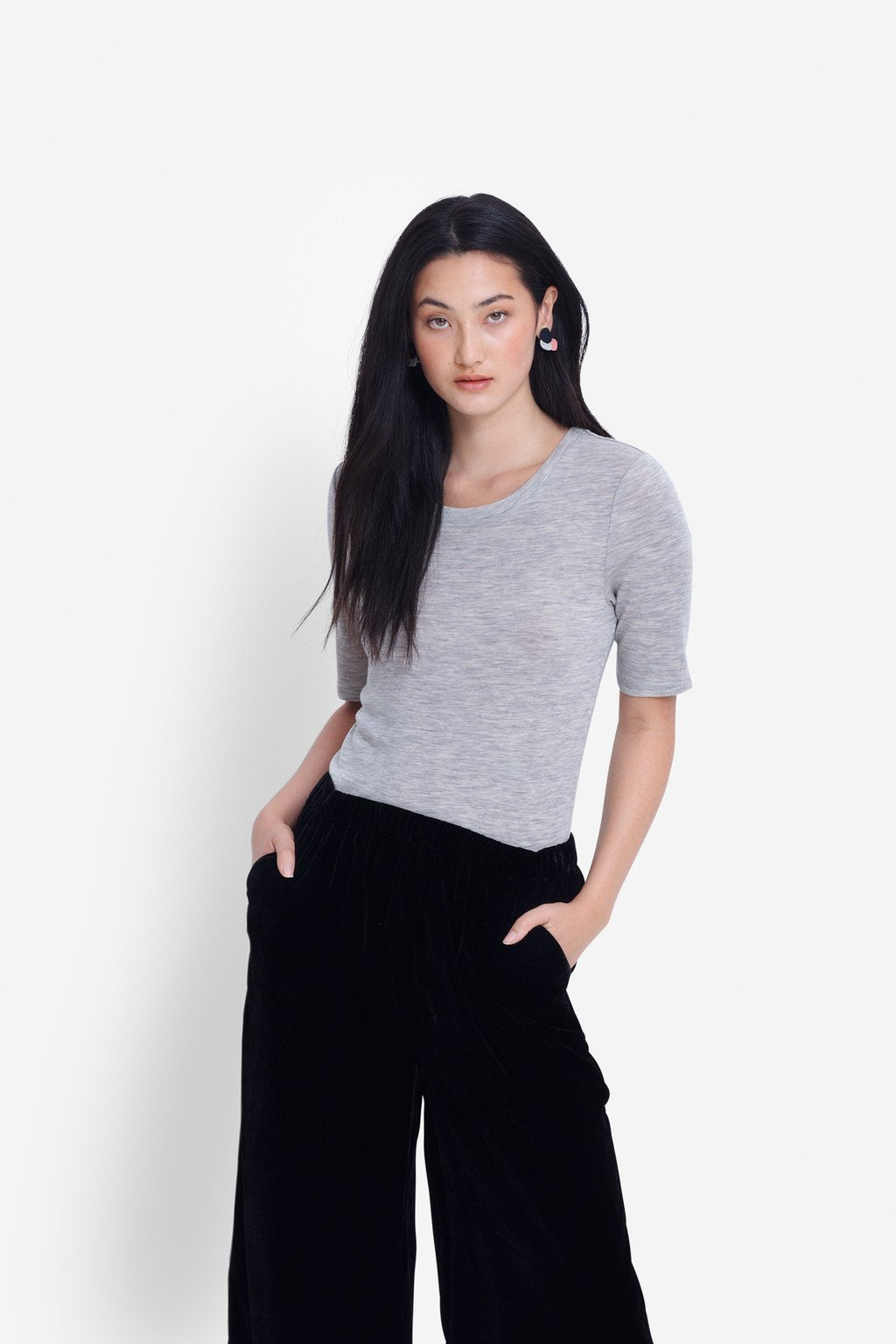 Elk W20 Marika Knit Top Grey