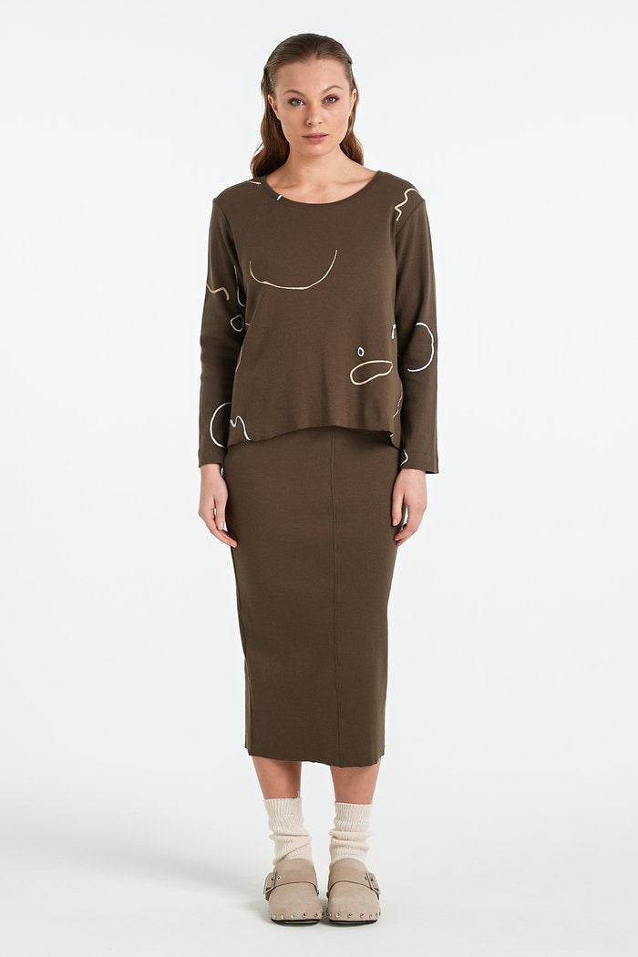 Nyne W20 Layer Skirt Khaki