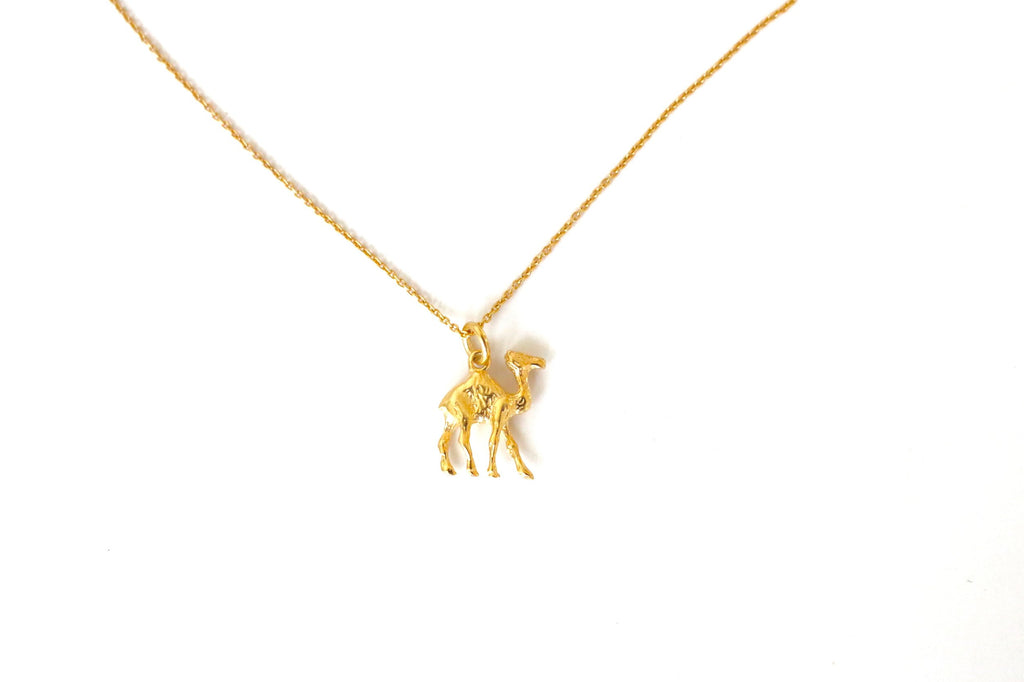 Not Heidi Camel Gold Necklace