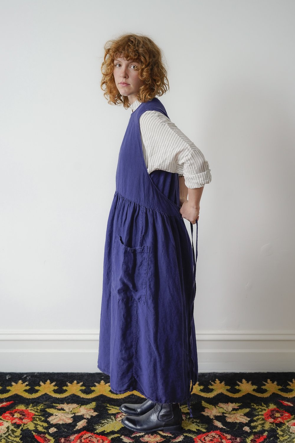 Metta Melbourne Kitty Apron Dress Indigo