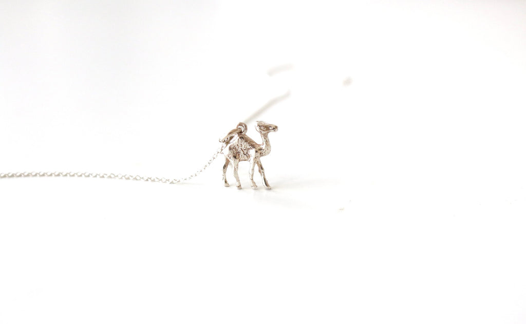 Not Heidi Camel Silver Necklace