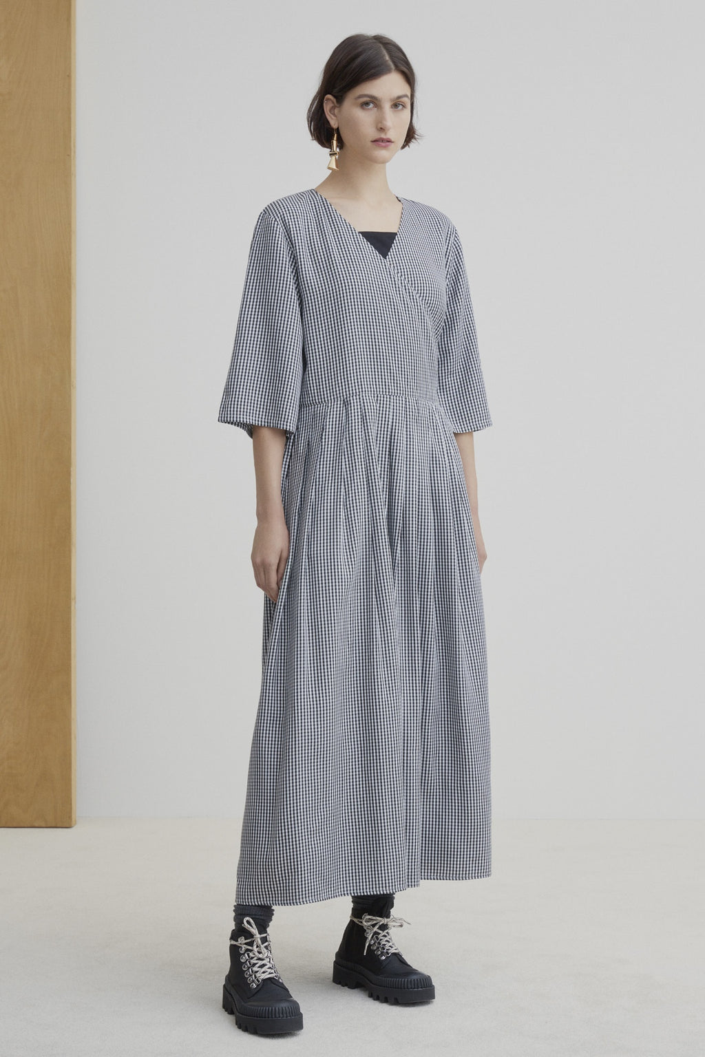 Kowtow W20 Nico Wrap Dress Gingham