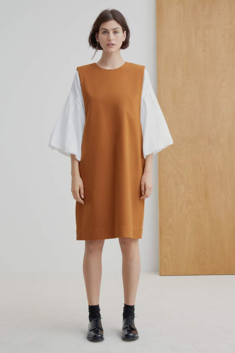 Kowtow W20 Form Dress Brass Denim