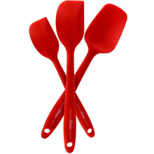 Premium Silicone Kitchen Cooking Utensils (3 Piece) - Pro Grade 600 Degrees, High Heat-Resistant - Spatulas, Turners, Scrapers, Durable, Flexible, Non-Stick Design by Premium Home Quality (Red)