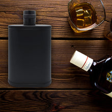 Satin Black 9 oz Flask - 304 (18/8) Stainless Steel - 100% Leak Proof Liquor, Drinking, Whiskey Flasks by Future Hydrate (Satin/Matte Black, Stainless Steel)